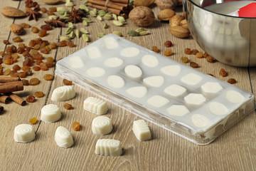 cioccolatini bianchi al latte