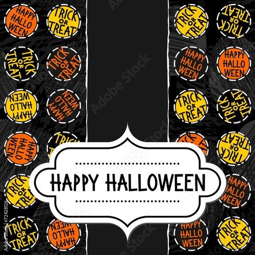 Halloween Zaproszenie Plakat Kartka Znaczki W Języku Angielskim