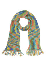 long  multicolored scarf