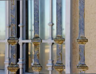 Rusty Iron Gate Close-Up