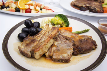 Steak of grill lamb