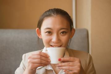 Girl cafe portrait
