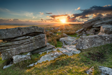 Wall Mural - View over Bodmin Moor in Cornwall