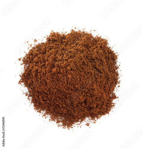 white coffee grounds