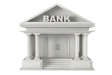 3d concrete Bank Building