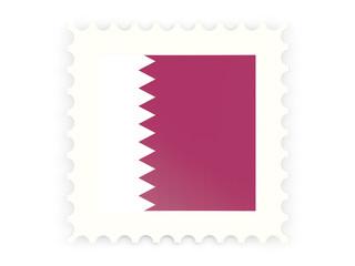 Postage stamp icon of qatar