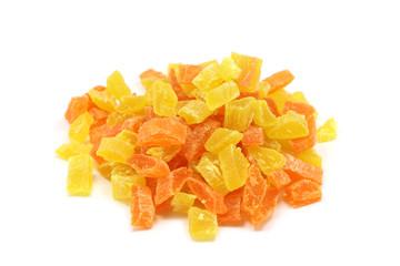 orange marmalade on a white background