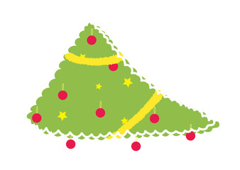 Decorative Christmas Tree Sticker Design