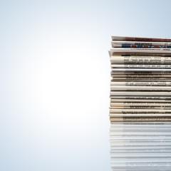 Schäner Zeitungsstapel