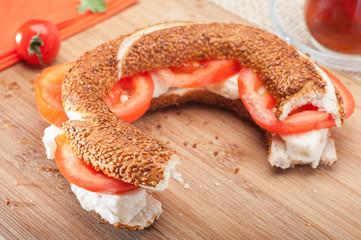 Simit Feta Sandwich