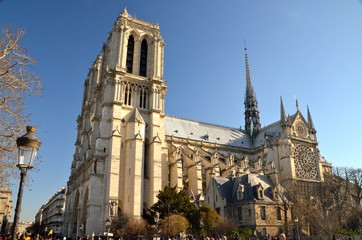 The Notre Dame cathedral of Paris, France