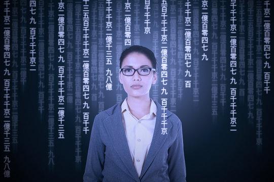 Woman try to translate japanese language