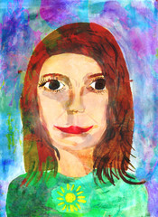 "Child's Artwork - ""Portrait of a girl"""