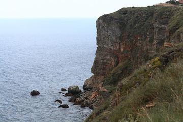 boulders sea summer mountains