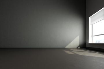 3d render  gray room