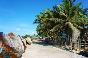 Beautiful fishing village,Vietnamese countryside