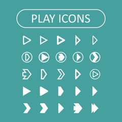 Play icons
