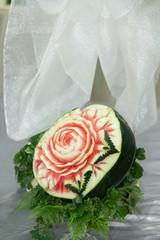 Watermelon  fruit carving.