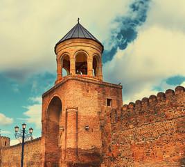 Fotomurales - Svetitskhoveli Cathedral belfry in Mtskheta, Georgia country