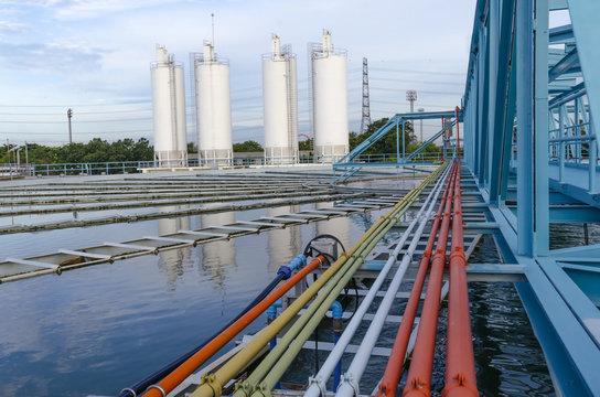 Waterworks industrial reserve for people