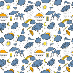 Hand Drawn Weather Color Seamless