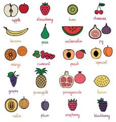 Fruit icons set 2