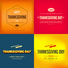 Happy Thanksgiving Day Typography Greeting card Poster