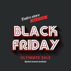 Black Friday Typography Advertising Poster design vector templat