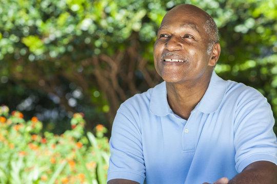 Happy Senior African American Man