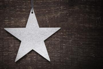 silberner Stern Weihnachten