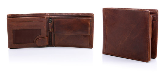 Fototapeta Mens leather wallets on a white background obraz