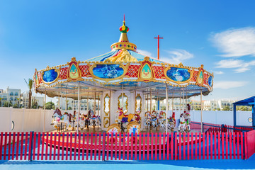 Children's Carousel for entertainment and fun.