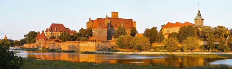 Fotorolgordijn Kasteel Malbork castle in Poland