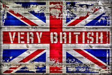 Very British - Union Jack auf Holz