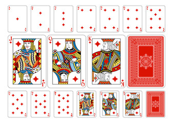 Poker size Diamond playing cards plus reverse