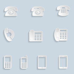Paper Phone Icons