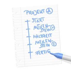 papierblatt filzstift projekt I