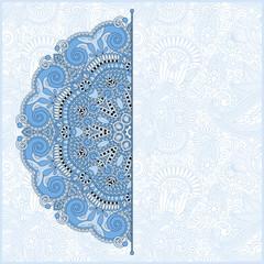 blue colour floral round pattern