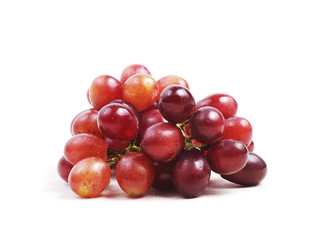 red grape on isolated white background