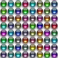 Glass balls generated texture