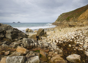 Fototapete - Porth Nanven Cove Cornwall