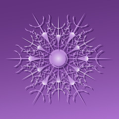 violet spiky snowflake