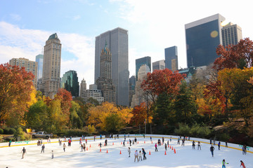 Ice Skating in Central Park, New York City
