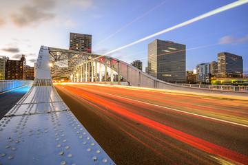 Tokyo, Japan Traffic Cityscape