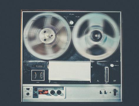 Reel to reel tape deck retro vintage audio