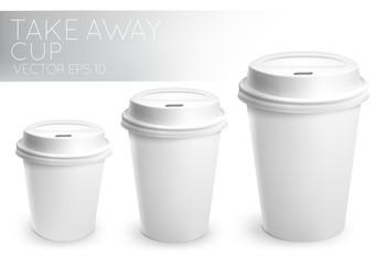 Take away paper cup white