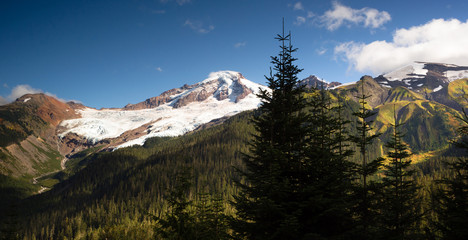 Horizontal Panoramic Mt Baker Heliotrope Ridge Cascade Range