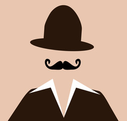 man with hat and handlebar mustache