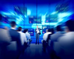 Business People Seminar Stock Exchange Finance
