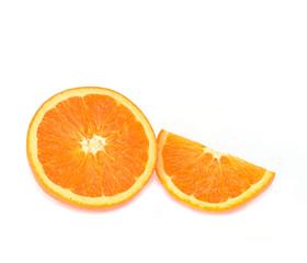 Orange with white background